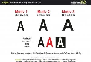 Helmkennzeichnung Atemschutz (A)
