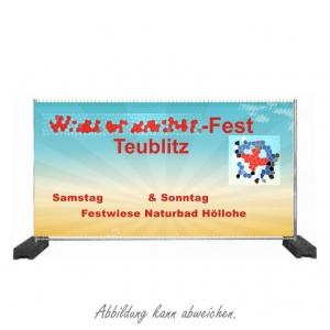 Bauzaun-Banner (mit eigenem Motiv)