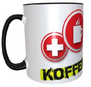 Tasse (Motiv Koffeinkonserve & eigenem Logo)