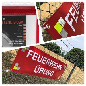 Banner (Motiv Feuerwehrübung)