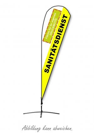 Beachflag (Motiv SAN-Dienst)