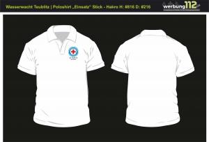Poloshirt Wasserwacht OG Teublitz (Motiv Einsatz) [e]