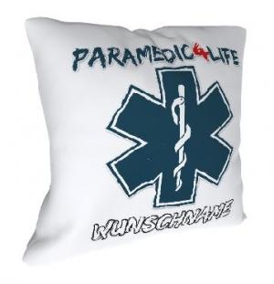 Kissen (Motiv Paramedic4Life)