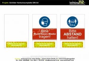 Hartschaumplatte (diverse Motive Hygiene)